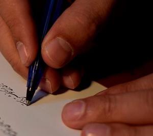 آموزش مقدماتی خوشنویسی با خودکار در مشهد